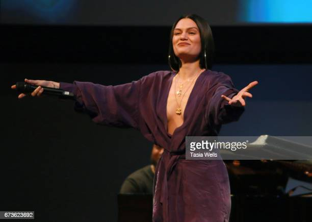 Singersongwriter Jessie J performs onstage at We Day California 2017 Cocktail Reception at NeueHouse Hollywood on April 26 2017 in Los Angeles...