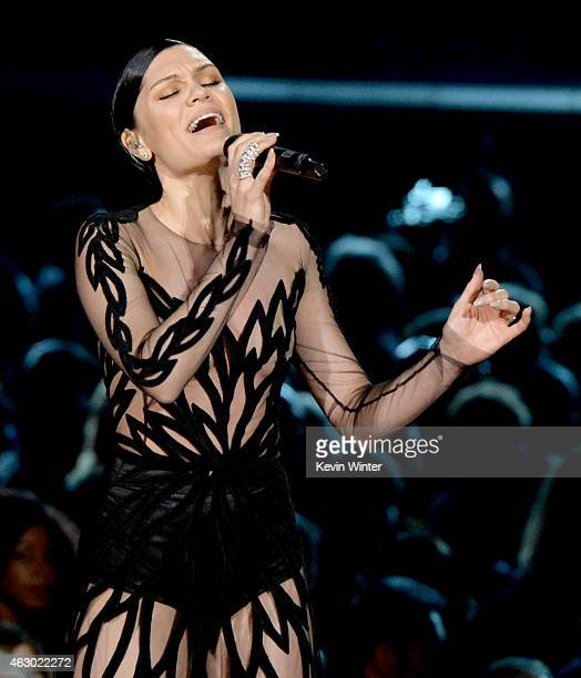 Singersongwriter Jessie J performs onstage during The 57th Annual GRAMMY Awards at the STAPLES Center on February 8 2015 in Los Angeles California