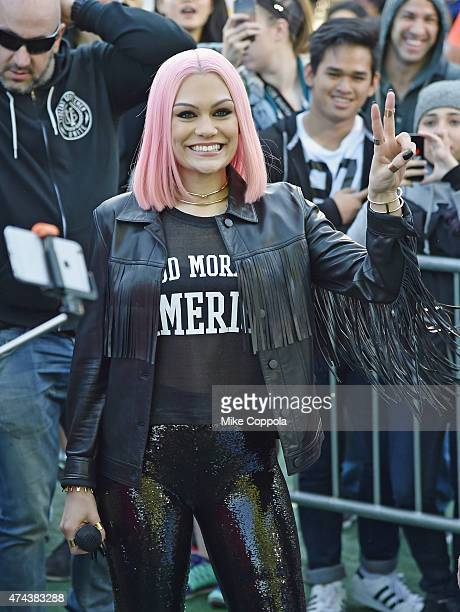Singer/songwriter Jessie J poses for a picture at Rumsey Playfield Central Park on May 22 2015 in New York City