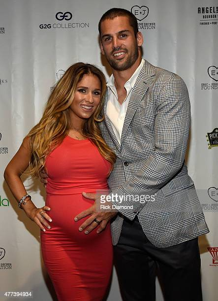 Singer/Songwriter Jessie James Decker and Eric Decker attend On Deck With The Deckers Hosted By The Eric And Jessie Decker Foundation The Eric And...