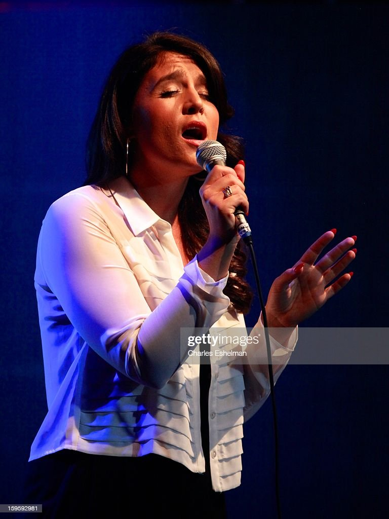Singer/songwriter Jessie Ware performs during the 2013 MTV Artist To Watch Concert at Highline Ballroom on January 16, 2013 in New York City.