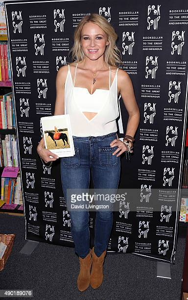 Singer/songwriter Jewel discusses and signs her new book 'Never Broken Songs Are Only Half the Story' at Book Soup on September 26 2015 in West...