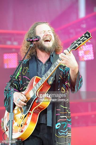 Singersongwriter Jim James of My Morning Jacket performs onstage during Global Citizen 2015 Earth Day on National Mall to end extreme poverty and...
