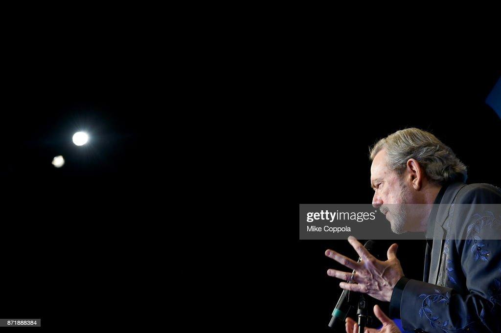 Singer-songwriter Jimmy Webb speaks in the press room the 51st annual CMA Awards at the Bridgestone Arena on November 8, 2017 in Nashville, Tennessee.