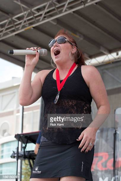 Singersongwriter Jo Dee Messina performs in concert after running the Rock 'n' Roll San Antonio 1/2 Marathon benefiting Susan G Komen for the Cure on...