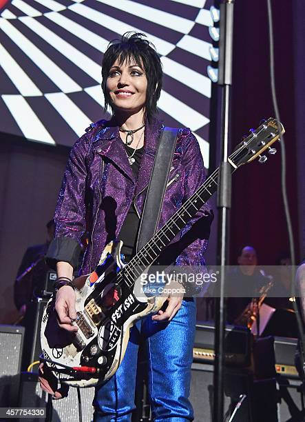 Singer/songwriter Joan Jett performs at The 6th Annual Little Kids Rock Benefit presented by Guitar Center at the Hammerstein Ballroom on October 23...