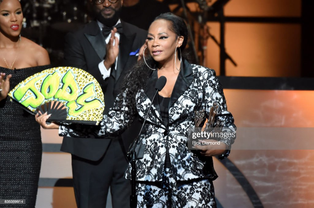 Singer-songwriter Jody Watley accepts an award onstage at the 2017 Black Music Honors at Tennessee Performing Arts Center on August 18, 2017 in Nashville, Tennessee.