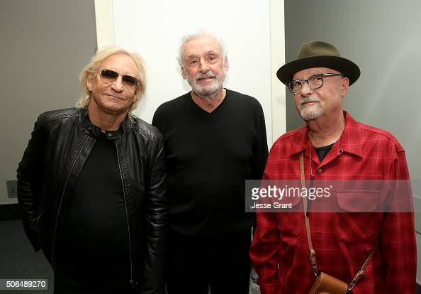 Singersongwriter Joe Walsh producer Bill Szymczyk and Mr Bonzai attend day 3 of the 2016 NAMM Show at the Anaheim Convention Center on January 23...