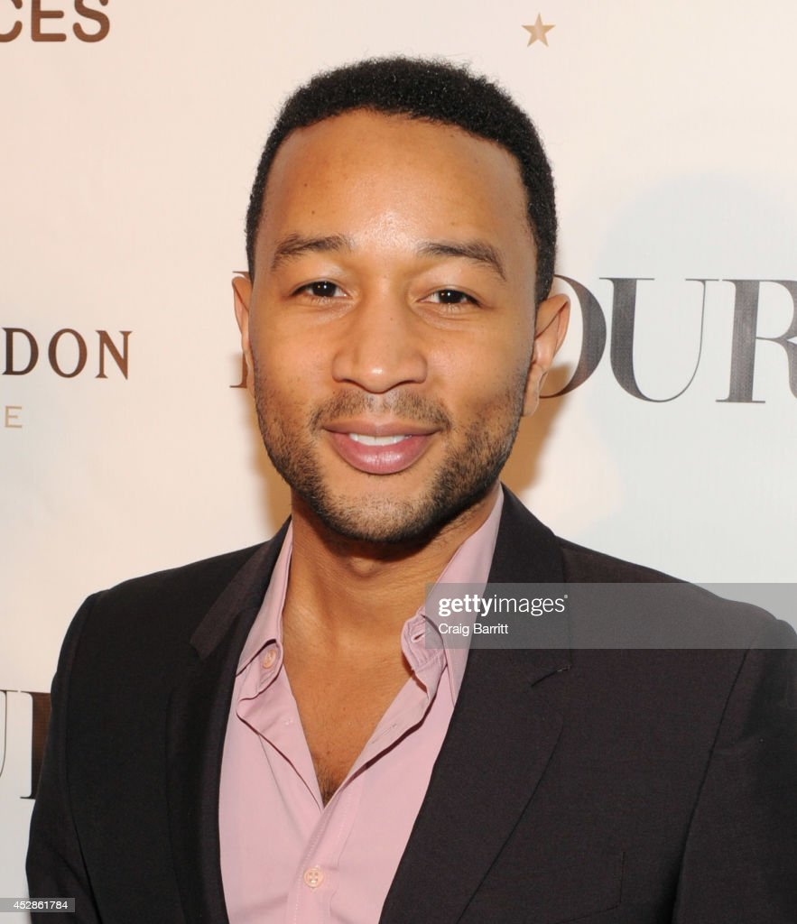 Singer-songwriter John Legend attends DuJour Magazine and NYY Steak celebrating Chrissy Teigen with FENDI timepieces and Moet Ice on July 28, 2014 in New York City.