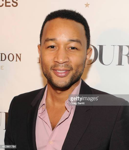 Singersongwriter John Legend attends DuJour Magazine and NYY Steak celebrating Chrissy Teigen with FENDI timepieces and Moet Ice on July 28 2014 in...