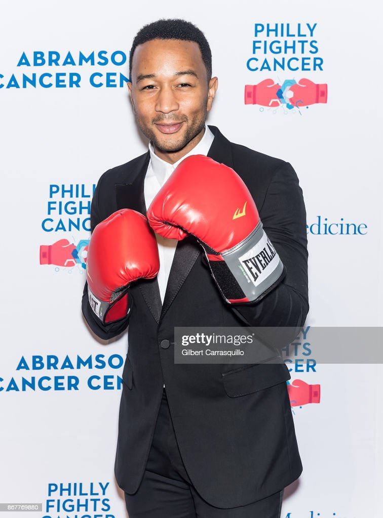 Singer-songwriter John Legend attends Philly Fights Cancer: Round 3 at The Philadelphia Navy Yard on October 28, 2017 in Philadelphia, Pennsylvania.