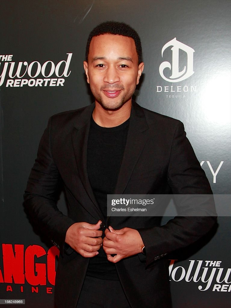 Singer/songwriter <a gi-track='captionPersonalityLinkClicked' href=/galleries/search?phrase=John+Legend&family=editorial&specificpeople=201468 ng-click='$event.stopPropagation()'>John Legend</a> attends The Weinstein Company With The Hollywood Reporter, Samsung Galaxy And The Cinema Society Host A Screening Of 'Django Unchained' at Ziegfeld Theater on December 11, 2012 in New York City.