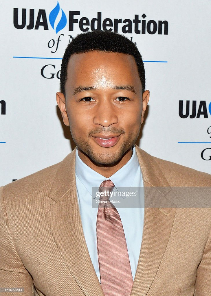 Singer/songwriter <a gi-track='captionPersonalityLinkClicked' href=/galleries/search?phrase=John+Legend&family=editorial&specificpeople=201468 ng-click='$event.stopPropagation()'>John Legend</a> attends UJA-Federation Of New York Music Visionary Of The Year Award Luncheon at The Pierre Hotel on June 21, 2013 in New York City.