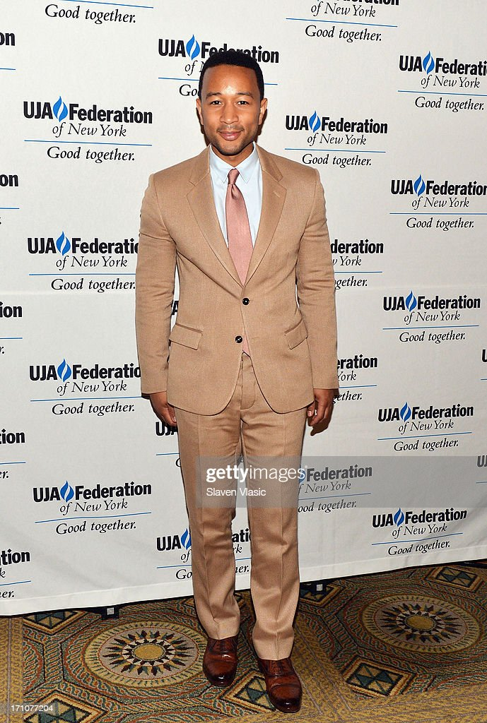 Singer/songwriter John Legend attends UJA-Federation Of New York Music Visionary Of The Year Award Luncheon at The Pierre Hotel on June 21, 2013 in New York City.