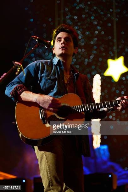 Singersongwriter John Mayer performs at Barclays Center of Brooklyn on December 17 2013 in New York City