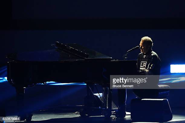 Singersongwriter John Ondrasik performs during the NHL 100 presented by GEICO Show as part of the 2017 NHL AllStar Weekend at the Microsoft Theater...