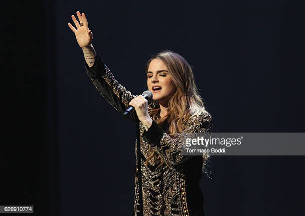 Singersongwriter JoJo performs onstage at AIDS Healthcare Foundations Keep the Promise Concert at the Dolby Theatre in Hollywood CA on November 30...