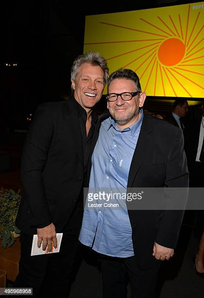 Singersongwriter Jon Bon Jovi and UMG Chairman and CEO Lucian Grainge attend the City Of Hope 2015 Spirit Of Life Gala Honoring UMG Chairman And CEO...