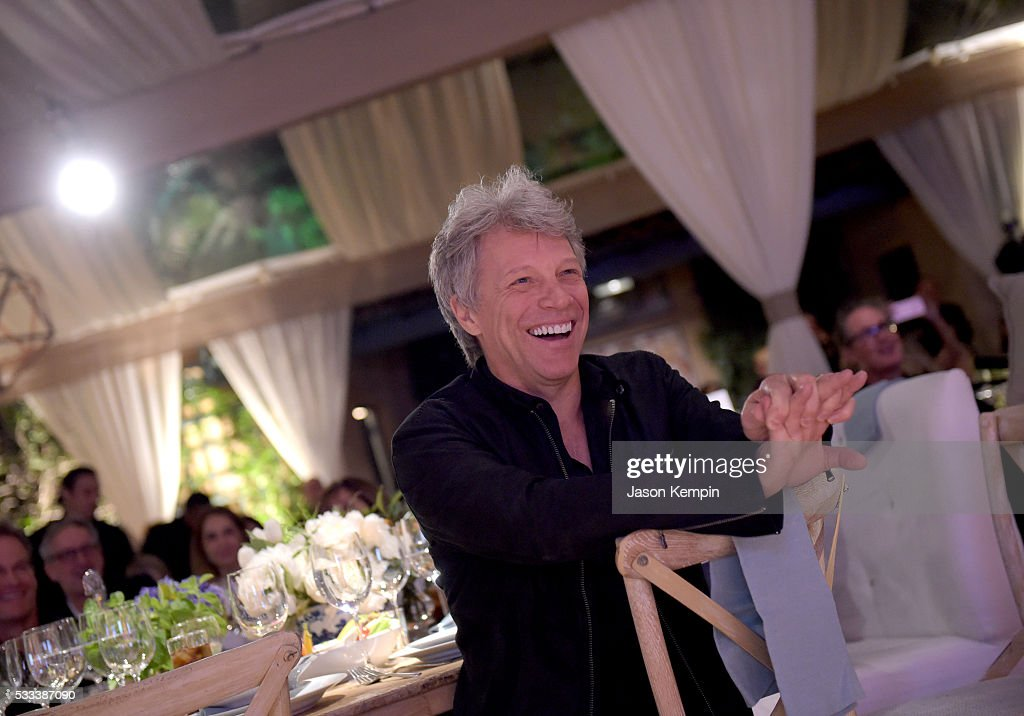 Singer-songwriter <a gi-track='captionPersonalityLinkClicked' href=/galleries/search?phrase=Jon+Bon+Jovi&family=editorial&specificpeople=201527 ng-click='$event.stopPropagation()'>Jon Bon Jovi</a> attends The Heart Foundation 20th Anniversary Event honoring Discovery Land Company's Mike Meldman at the Green Acres Estate on May 21, 2016 in Beverly Hills, California.