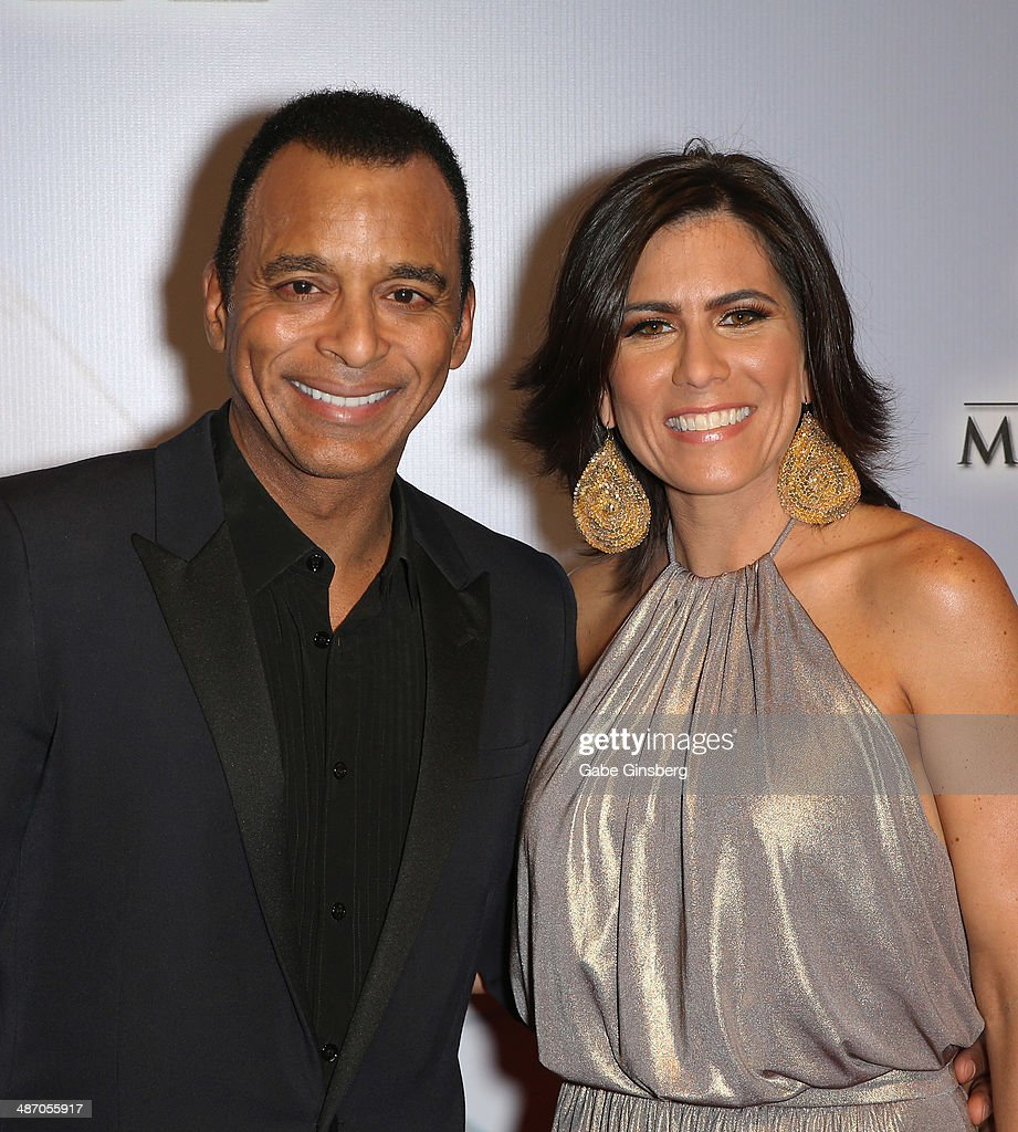 Singer/songwriter <a gi-track='captionPersonalityLinkClicked' href=/galleries/search?phrase=Jon+Secada&family=editorial&specificpeople=211458 ng-click='$event.stopPropagation()'>Jon Secada</a> (L) and his wife Mari Secada attend the 18th annual Keep Memory Alive 'Power of Love Gala' benefit for the Cleveland Clinic Lou Ruvo Center for Brain Health honoring Gloria Estefan and Emilio Estefan Jr. at the MGM Grand Garden Arena on April 26, 2014 in Las Vegas, Nevada.