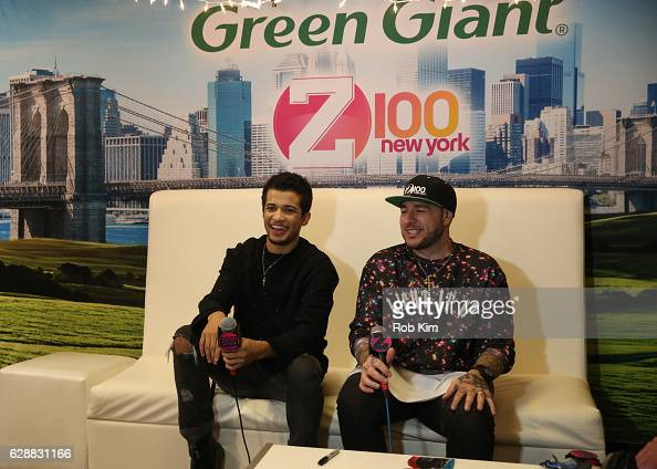 Singersongwriter Jordan Fisher and Mo' Bounce speak at Z100 CocaCola All Access Lounge at Z100's Jingle Ball 2016 Presented by Capital One preshow at...