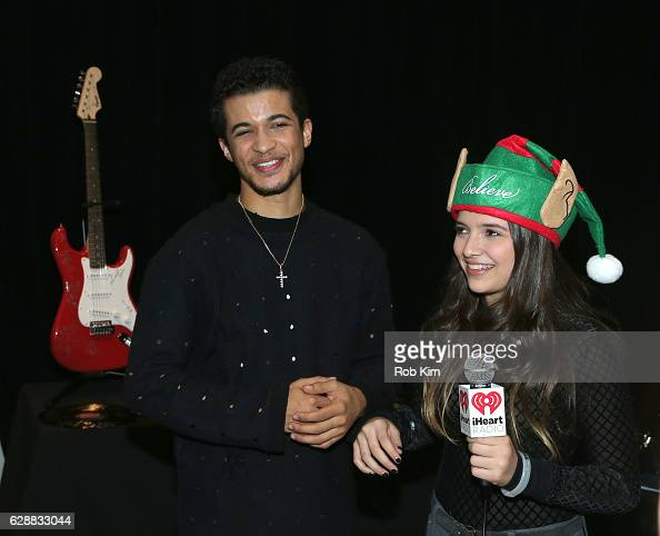 Singersongwriter Jordan Fisher is interviewed during Z100 CocaCola All Access Lounge at Z100's Jingle Ball 2016 Presented by Capital One preshow at...