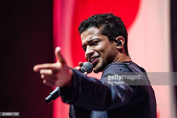 Singersongwriter Jordan Fisher performs on stage during Z100 CocaCola All Access Lounge on December 9 2016 in New York City
