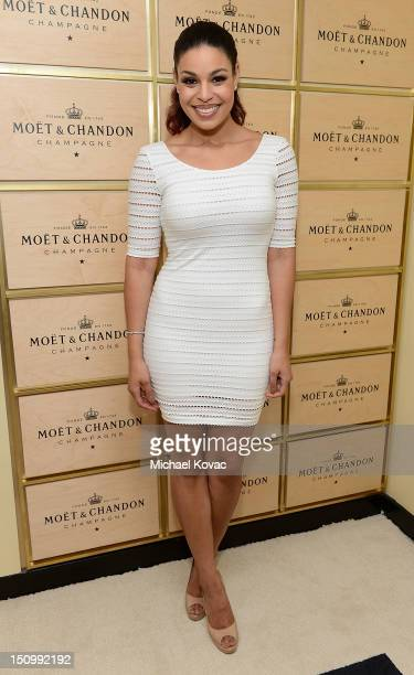 Singer/Songwriter Jordin Sparks visits the Moet Chandon Suite at the 2012 US Open at the USTA Billie Jean King National Tennis Center on August 27...