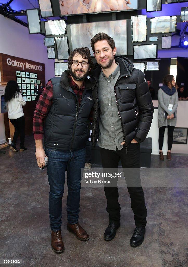Singer/songwriter Josh Groban and actor John Krasinski attend The Samsung Studio At Sundance Festival 2016 on January 23 2016 in Park City Utah