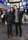 Singer/songwriter Josh Groban and actor John Krasinski attend The Samsung Studio At Sundance Festival 2016 on January 23 2016 in Park City Utah