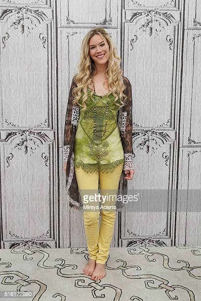 Singersongwriter Joss Stone discusses her career and her new studio album 'Water for Your Soul' at AOL Studios in New York on March 17 2016 in New...
