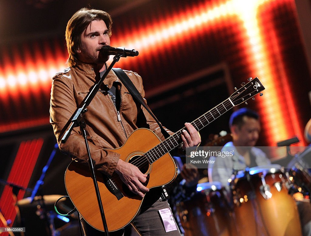 Singer/songwriter Juanes performs onstage during rehearsals for the 13th annual Latin GRAMMY Awards at the Mandalay Bay Events Center on November 14, 2012 in Las Vegas, Nevada.