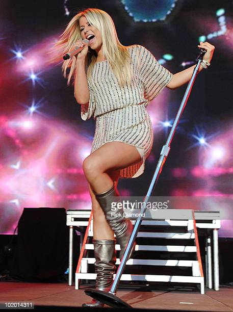 Singer/Songwriter Julianne Hough performs during the 2010 CMA Music Festival on June 11 2010 at LP Field in Nashville Tennessee