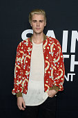 Singersongwriter Justin Bieber arrives at SAINT LAURENT at the Palladium at Hollywood Palladium on February 10 2016 in Los Angeles California