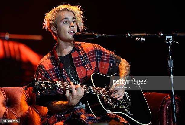 Singer/songwriter Justin Bieber performs onstage at KeyArena on March 9 2016 in Seattle Washington