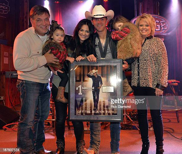 Singer/Songwriter Justin Moore and family attend the BMLG BMI ASCAP's party in Celebration of Justin Moore's Number 1 Song 'Point at You' and his...