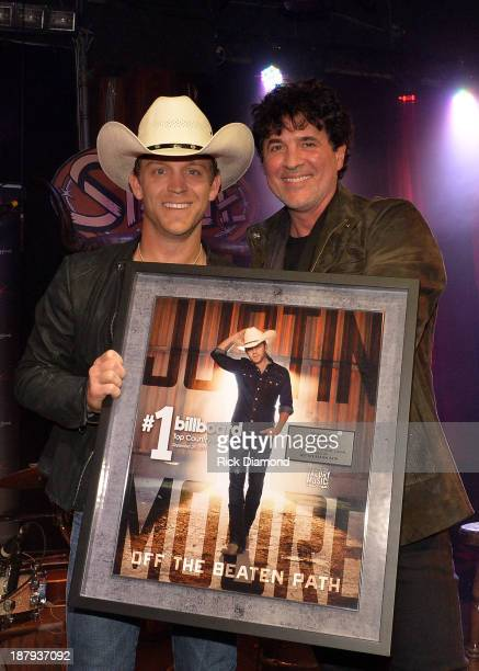 Singer/Songwriter Justin Moore and Scott Borchetta CEO/President Big Machine Label Group attend the BMLG BMI ASCAP's party in Celebration of Justin...