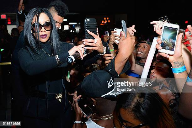 Singer/songwriter K Michelle takes a selfie with fans during the ninth annual Tempted2Touch Black LGBT Pride Spring Break Getaway at the Rain...