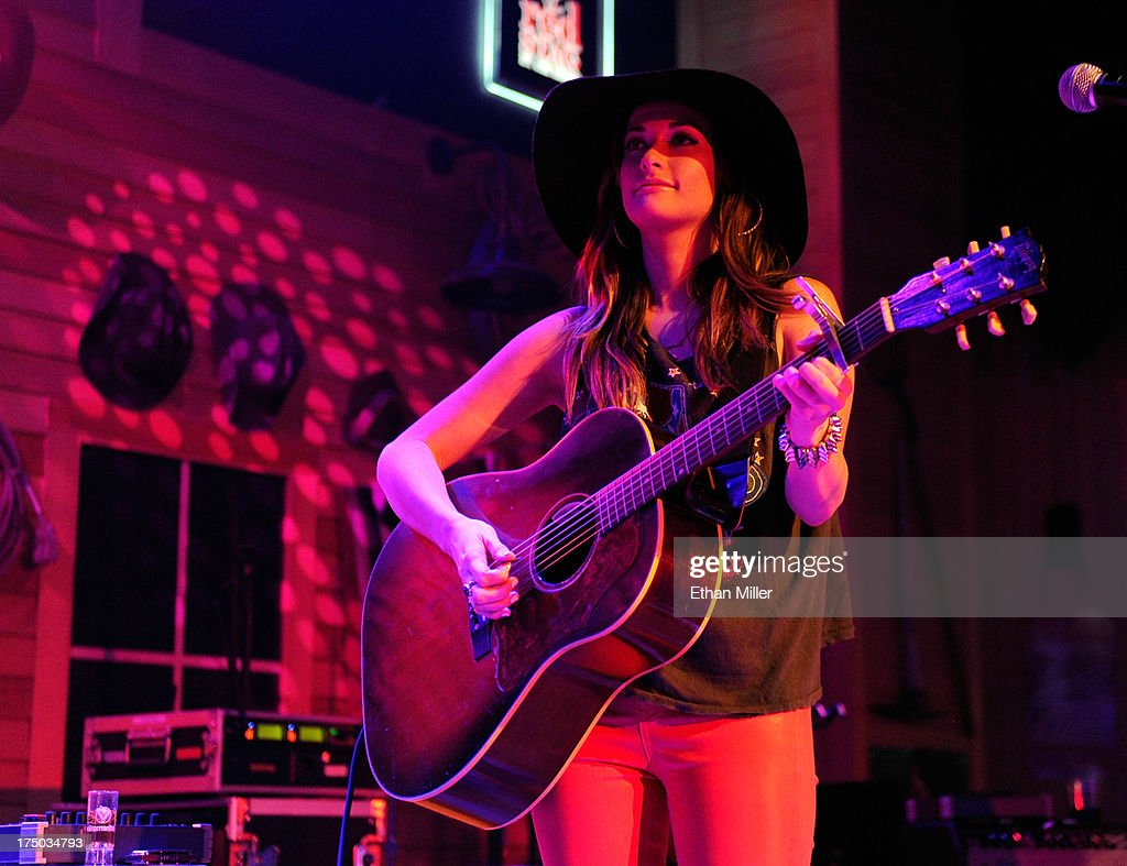 Singer/songwriter Kacey Musgraves performs at Gilley's Saloon, Dance Hall & Bar-B-Que at the Treasure Island Hotel & Casino as she tours in support of the album 'Same Trailer Different Park' on July 29, 2013 in Las Vegas, Nevada.