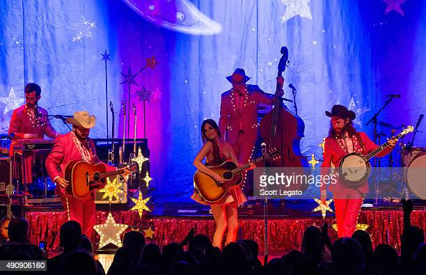 Singer/Songwriter Kacey Musgraves performs during The Kacey Musgraves Country Western Rhinestone Revue at Royal Oak Music Theater on October 1 2015...