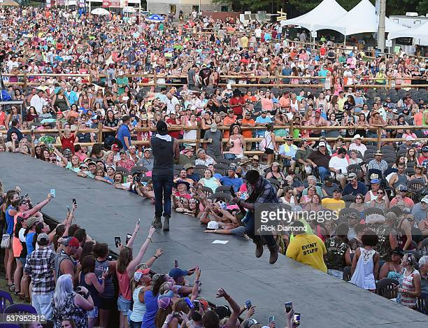 Singer/Songwriter Kane Brown performs during Pepsi's Rock The South Festival Day 1 at Heritage Park on June 3 2016 in Cullman Alabama