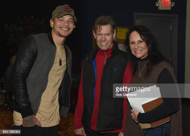 Singer/Songwriter Kane Brown with Singer/Songwriter Randy Travis and Mary Travis attend rehearsais for 1 Night 1 Place 1 Time A Heroes Friends...