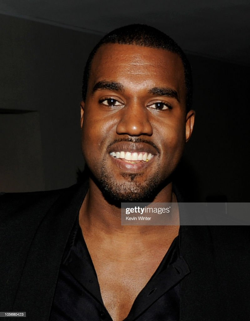 Singer/songwriter Kanye West arrives at the premiere of 'Runaway' at the Harmony Gold Preview House on October 18, 2010 in Los Angeles, California.