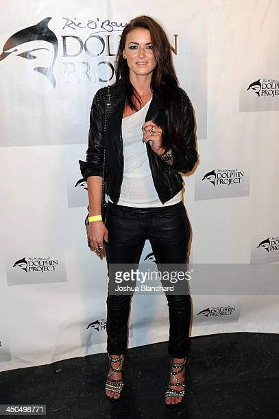 Singer/Songwriter Karina Hanssen arrives at the Avalon for Kings of Chaos Tokyo Celebrates The Dolphin Benefit Concert on November 18 2013 in...