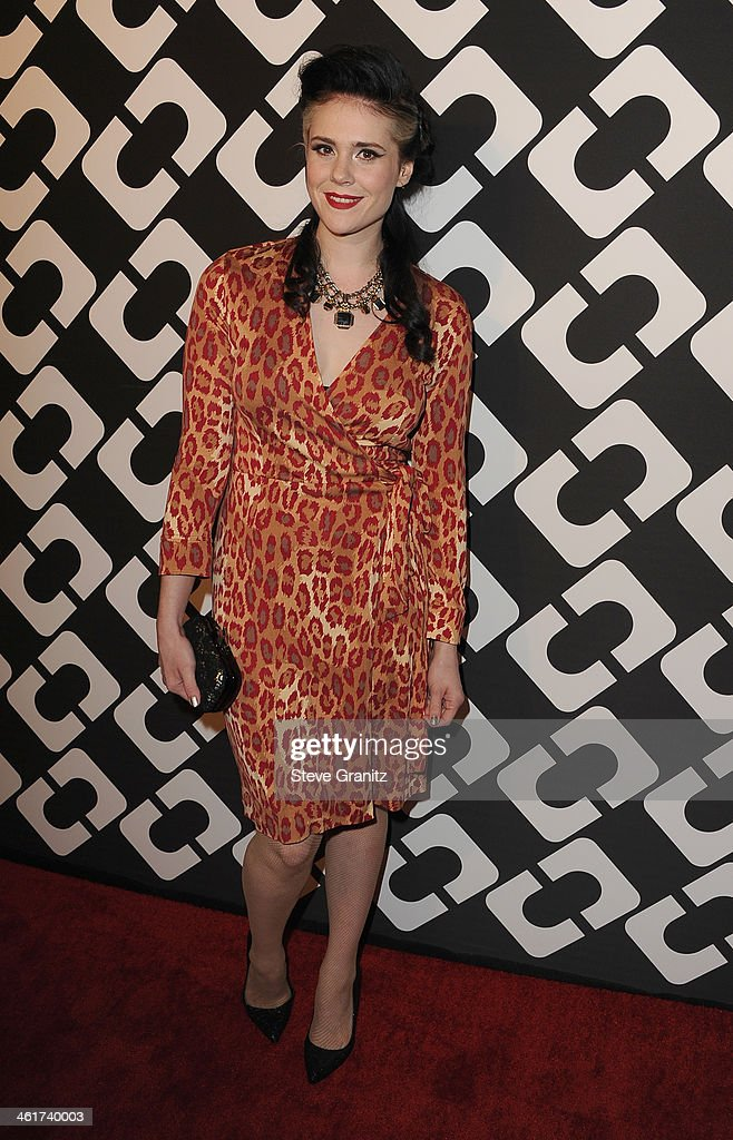 Singer/songwriter Kate Nash attends Diane Von Furstenberg's 'Journey Of A Dress' Premiere Opening Party at Wilshire May Company Building on January 10, 2014 in Los Angeles, California.