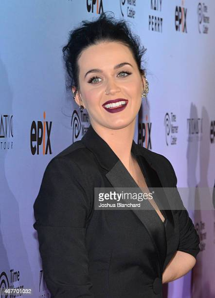 Singersongwriter Katy Perry attends EPIX and Time Warner Cable World Premier Screening Of 'Katy Perry The Prismatic World Tour' at The Theater at Ace...