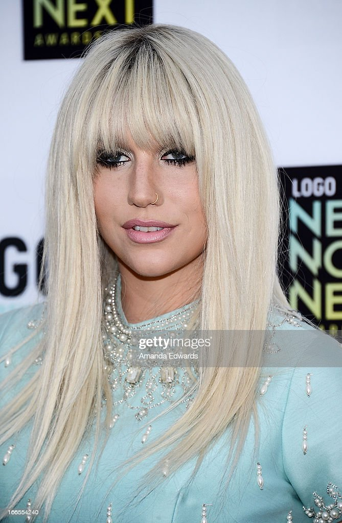 Singer-songwriter <a gi-track='captionPersonalityLinkClicked' href=/galleries/search?phrase=Ke%24ha&family=editorial&specificpeople=6718222 ng-click='$event.stopPropagation()'>Ke$ha</a> arrives at the Logo NewNowNext Awards 2013 at The Fonda Theatre on April 13, 2013 in Los Angeles, California.