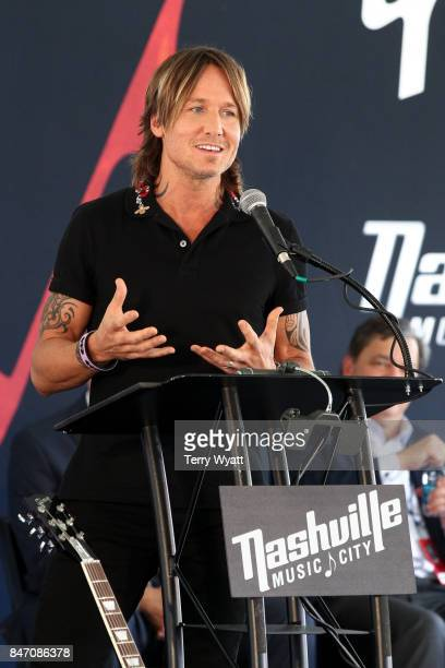 Singersongwriter Keith Urban attends Little Big Town's Nashville Music City Walk Of Fame Induction Ceremony at Nashville Music City Walk of Fame on...