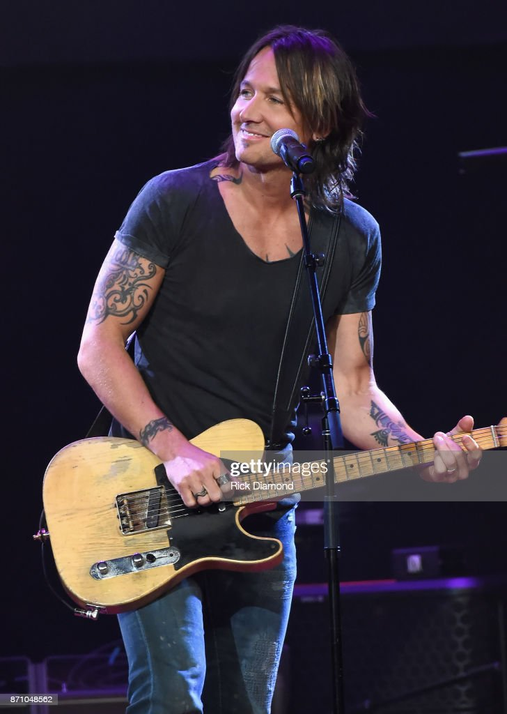 Singer-songwriter Keith Urban performs onstage during the 55th annual ASCAP Country Music awards at the Ryman Auditorium on November 6, 2017 in Nashville, Tennessee.