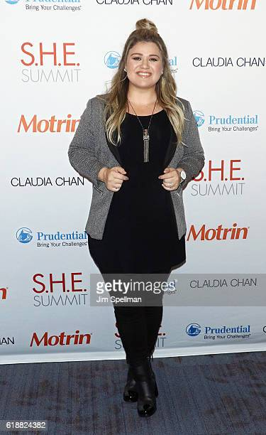 Singer/songwriter Kelly Clarkson attends the SHE Summit 2016 at 92nd Street Y on October 28 2016 in New York City